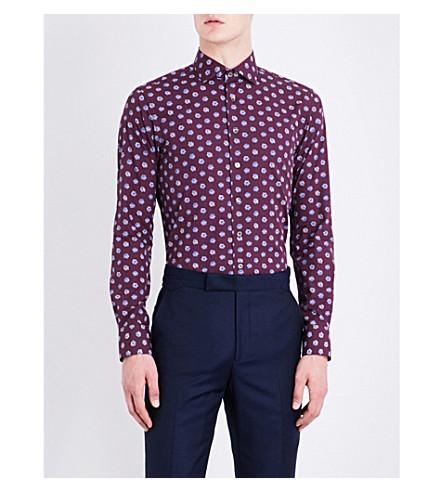 SMYTH & GIBSON Knot-pattern slim-fit cotton shirt (Borduex