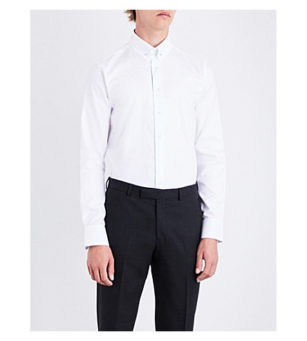 SMYTH & GIBSON Slim-fit cotton Oxford shirt (White
