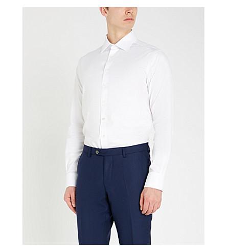 SMYTH & GIBSON Slim-fit cotton-twill shirt (White