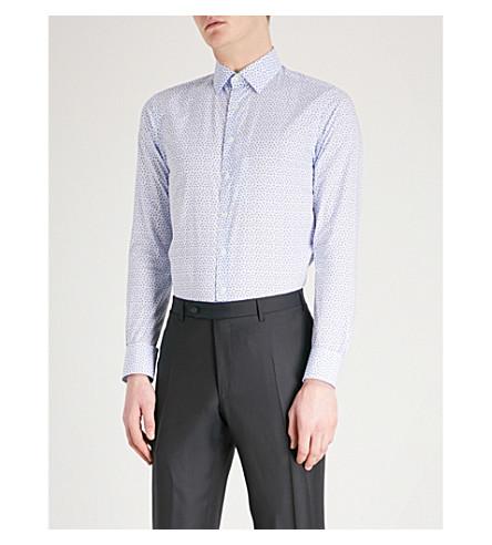 SMYTH & GIBSON Floral-print cotton shirt (White/purple