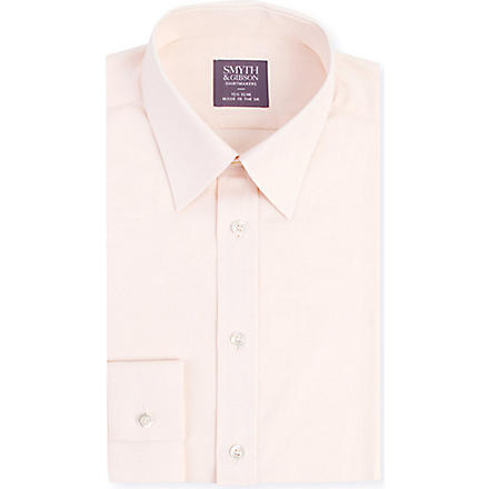 SMYTH & GIBSON Single-cuff slim-fit shirt (Orange