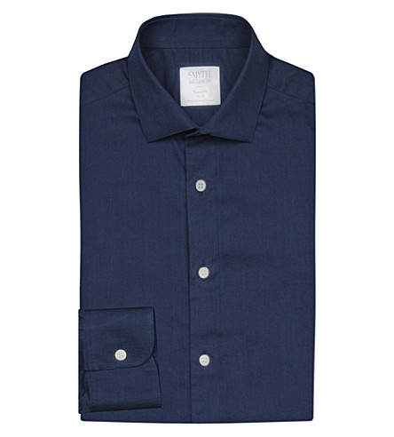 SMYTH & GIBSON Tailored-fit denim shirt (Blue