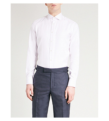 SMYTH & GIBSON Tailored-fit cotton shirt (Pink