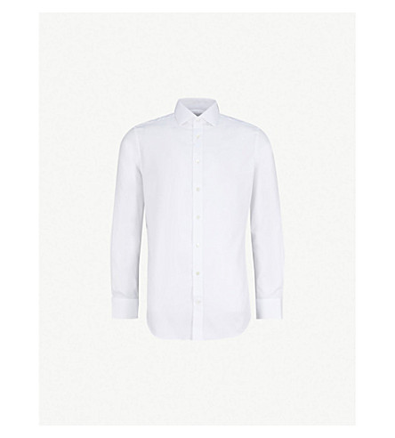 SMYTH & GIBSON Royal Oxford tailored-fit cotton shirt (White