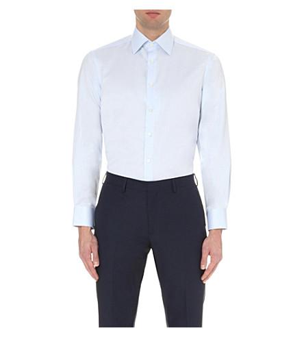 SMYTH & GIBSON 网篮精裁版型棉衬衫 (蓝色