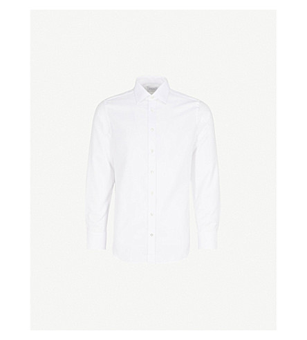 SMYTH & GIBSON Classic Panama tailored-fit cotton shirt (White