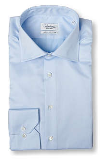 STENSTROMS Plain fitted single cuff shirt