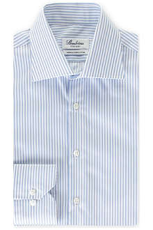 STENSTROMS Striped fitted single-cuff shirt