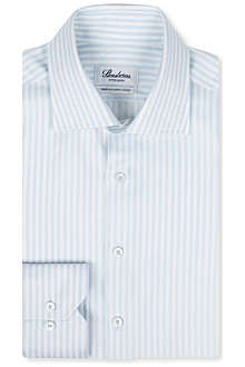 STENSTROMS Slim-fit single-cuff Bengal stripe shirt