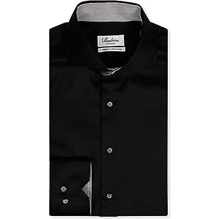 STENSTROMS Fitted single-cuff shirt (Black