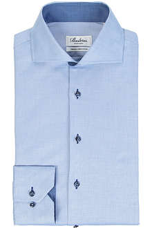 STENSTROMS Contrasting fitted single-cuff shirt