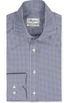 STENSTROMS Slim-fit gingham shirt