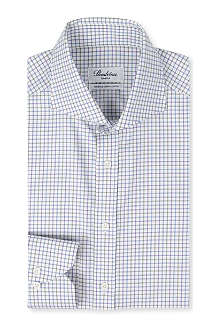 STENSTROMS Slim-fit single-cuff Tattersall shirt