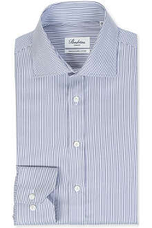 STENSTROMS Striped slimline single-cuff shirt
