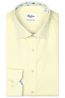 STENSTROMS Oxford slimline single-cuff shirt