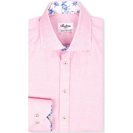 STENSTROMS Oxford slimline single-cuff shirt (Pink