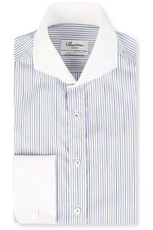 STENSTROMS Striped slim-fit double-cuff shirt