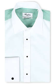 STENSTROMS Contrast back and sleeves shirt