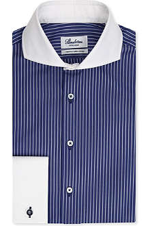 STENSTROMS Contrast-collar stripe shirt