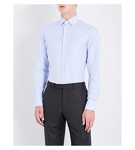 ERMENEGILDO ZEGNA Tailored-fit cotton shirt (Blue