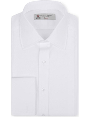 TURNBULL & ASSER Marcella bib-front double-cuff dress shirt