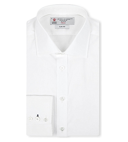 TURNBULL & ASSER Regent slim-fit cotton shirt (Wht