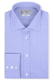 TURNBULL & ASSER End-On-End slim-fit single-cuff shirt