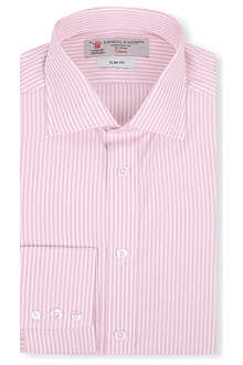 TURNBULL & ASSER Bengal-striped slim-fit single-cuff shirt