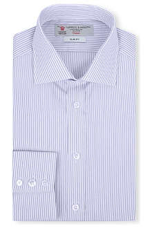 TURNBULL & ASSER Striped-jacquard slim-fit single-cuff shirt