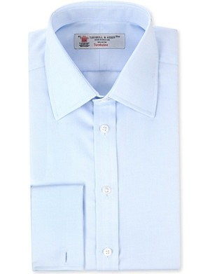 TURNBULL & ASSER Twill regular-fit double-cuff shirt