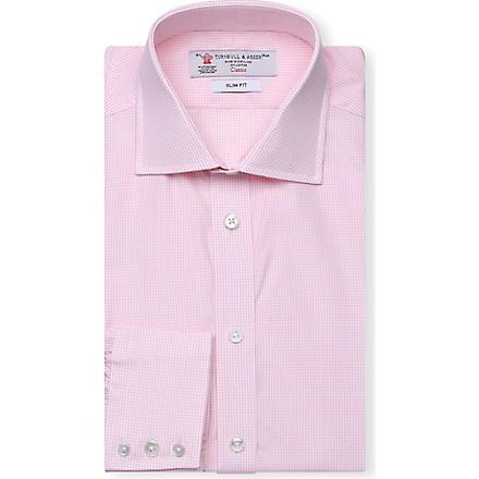 TURNBULL & ASSER Regent slim-fit cotton shirt (Pink