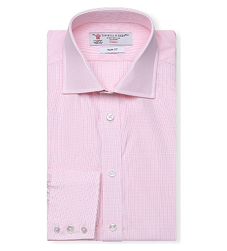 TURNBULL & ASSER Regent slim-fit cotton shirt (Pink