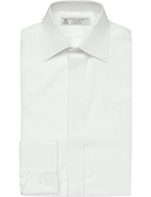 TURNBULL & ASSER Casino Royale slim-fit textured cotton shirt