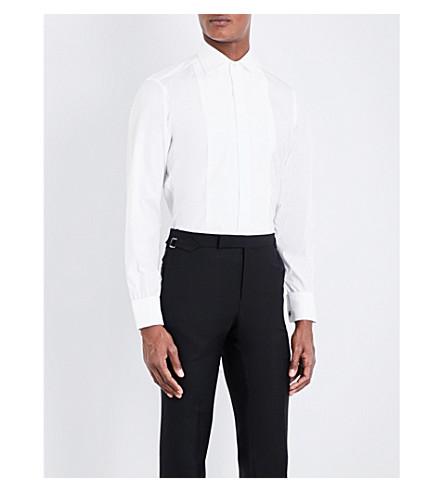 TURNBULL & ASSER Marcella slim-fit double-cuff cotton-poplin shirt (White