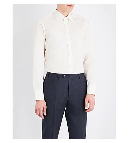 TURNBULL & ASSER Classic-fit cotton-poplin shirt (Cream