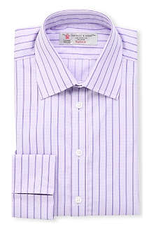 TURNBULL & ASSER Striped regular-fit double-cuff shirt