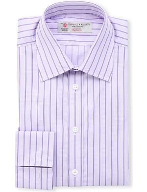 TURNBULL & ASSER Striped regular-fit double-cuff shirt