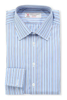 TURNBULL & ASSER Multi-striped regular-fit double-cuff shirt