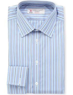 TURNBULL & ASSER Multi-striped regular-fit double-cuff shirt