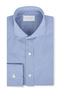LANDINI Agnelli gingham regular-fit single-cuff shirt