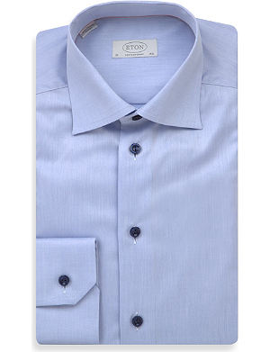 ETON Cotton-twill contemporary-fit shirt