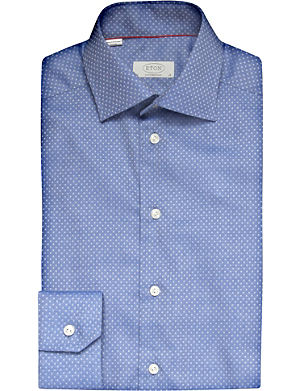 ETON Cotton-twill contemporary-fit shirt