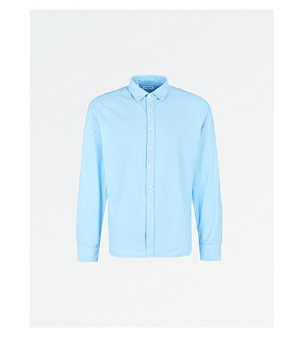 DUCHAMP LONDON Tailored-fit cotton Oxford shirt (Blue