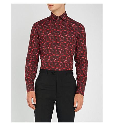 lunares algodón Camisa fit slim Rosa DUCHAMP x0qgpwAWC