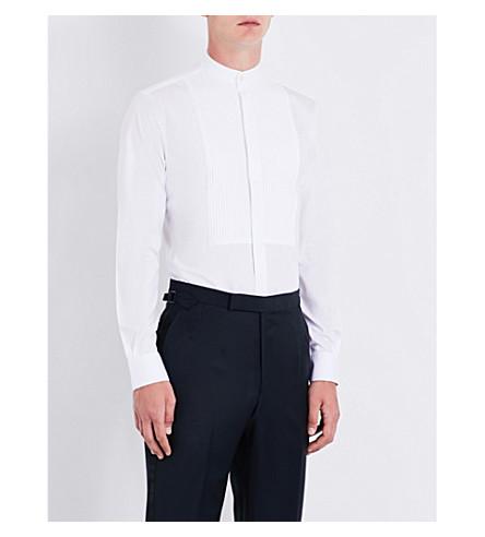 DUCHAMP Tailored-fit pleated-bib shirt (White