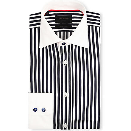 DUCHAMP Striped tailored-fit shirt (Smalt