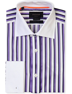 DUCHAMP Tailored-fit striped cotton shirt