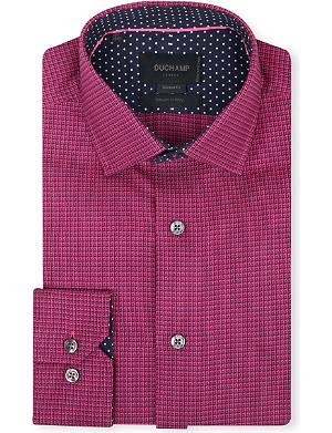 DUCHAMP Chequer-pattern tailored shirt