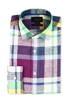 DUCHAMP Madras check linen shirt