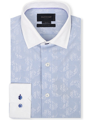 DUCHAMP Floral slim-fit shirt